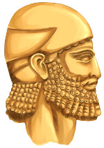 Ancient Assyrian Man with Beard