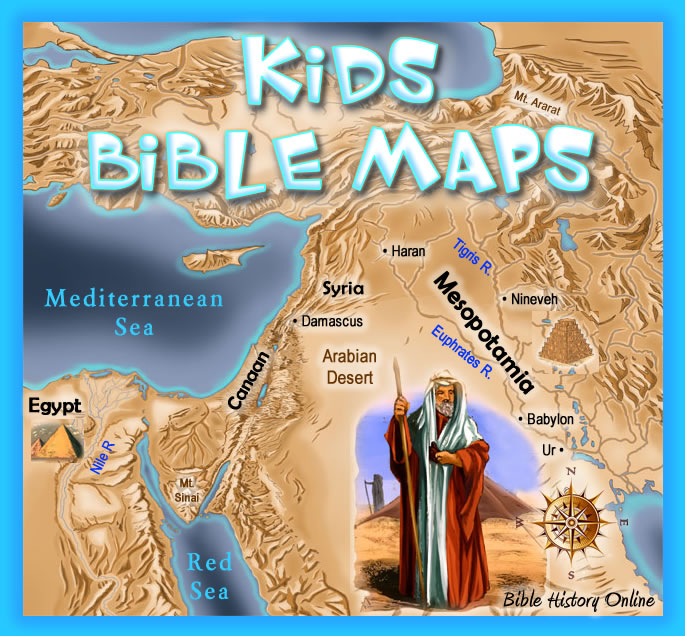 Kids Bible Maps A Free Resource For Children Of All Ages
