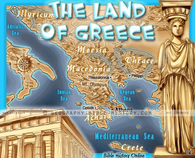 The Land of Greece in Bible Times