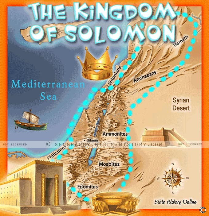 The Kingdom of Solomon After David's Death.